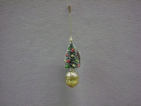 180-NT0599C Acorn Sisal Tree Ornament