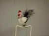 CW-BIR277 Rooster with Feather Tail