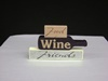 KK-12686B Food, Wine, & Friends 3 Brick Tabletop Sign