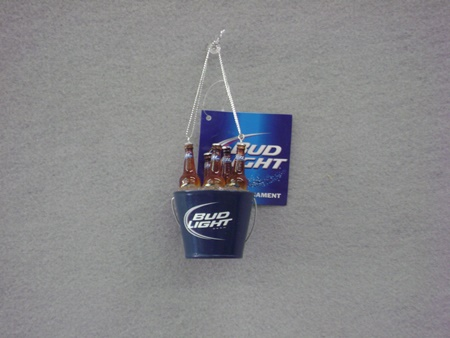 KA-AB9124 Bud Light Bottles in Bucket Cooler Ornament