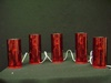 MW-633830 Red Pillar Electric Candle (5pc)