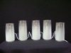 MW-633847 Silver Pillar Electric Candle (5pc)